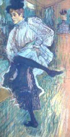Henri de Toulouse-Lautrec - Jane Avril dansant