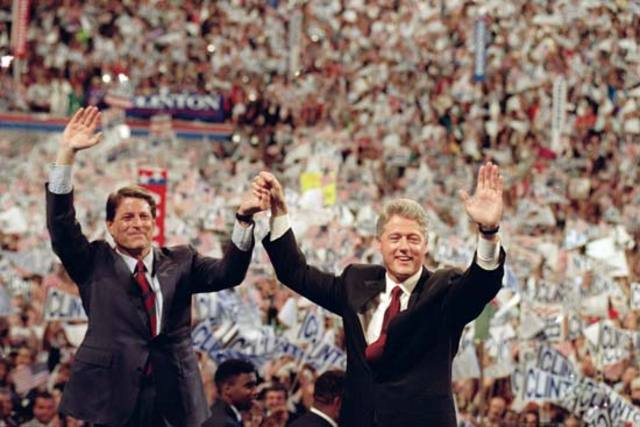 Bill declares he will run for president.