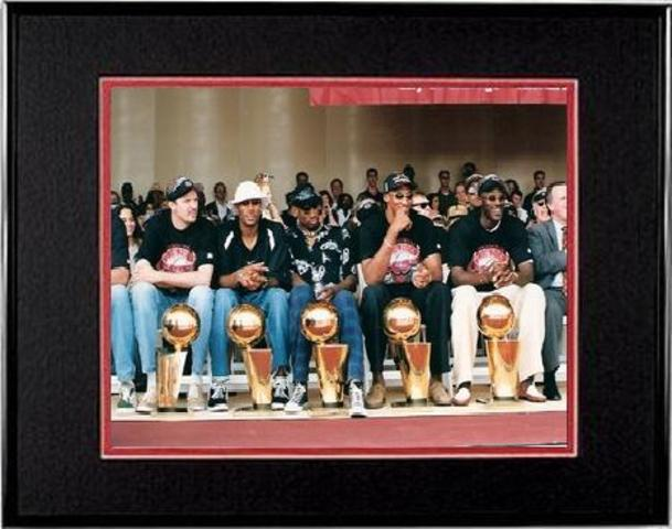 The Bulls won their 3rd Championship in a row