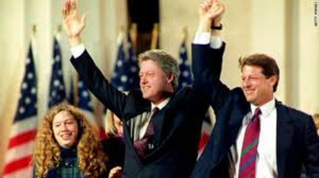 Clinton is elected for President of the United States.