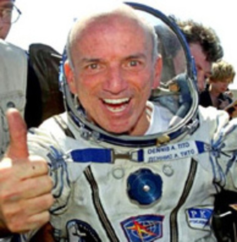 2001-Dennis Tito was the first space tourist