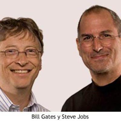 Biografia de la vida de Steve Jobs y Bill Gates timeline