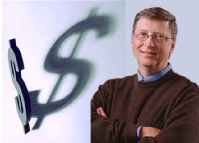 Bill Gates, casi el más millonario