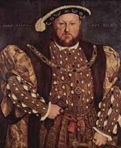 Henry the VIII becomes King of England