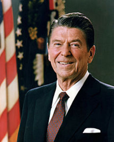 Ronald Reagan becomes 40th President