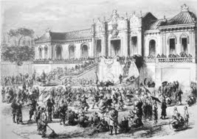 British and French troops capture Bejing