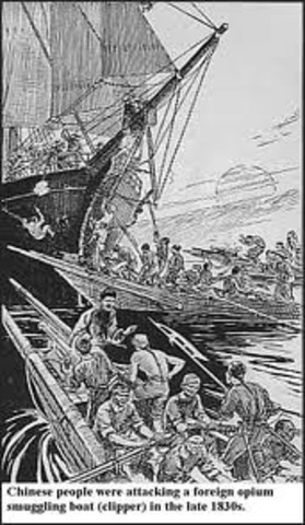 Lin Ze-xu made  1,600 arrests and confiscated 11,000 pounds of Opium from merchants