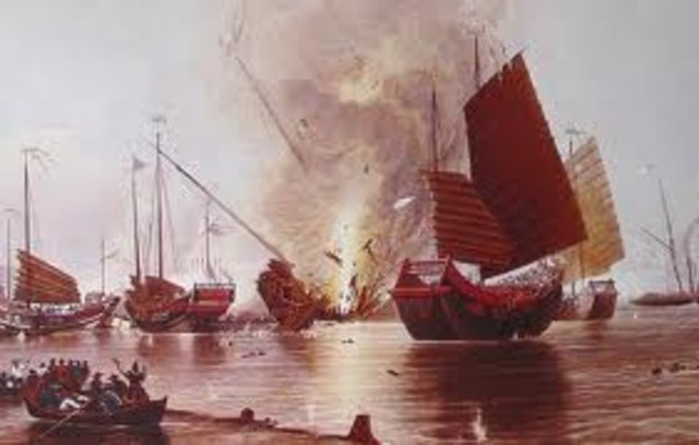 Chinese attack British forces on Baihe river