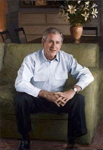 George W. Bush becomes 43rd President