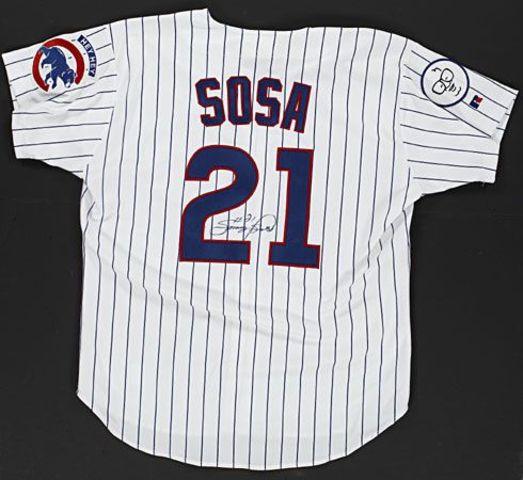 Sammy Sosa 66 homerun autographed jersey