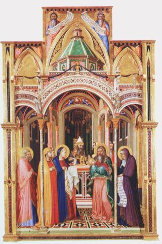 Ambrogio Lorenzetti - Présentation au temple