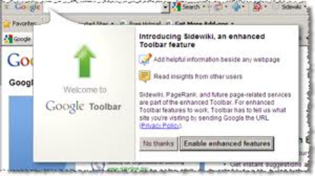 Google toolbar.