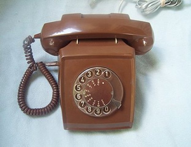 Rotary dial service was started.