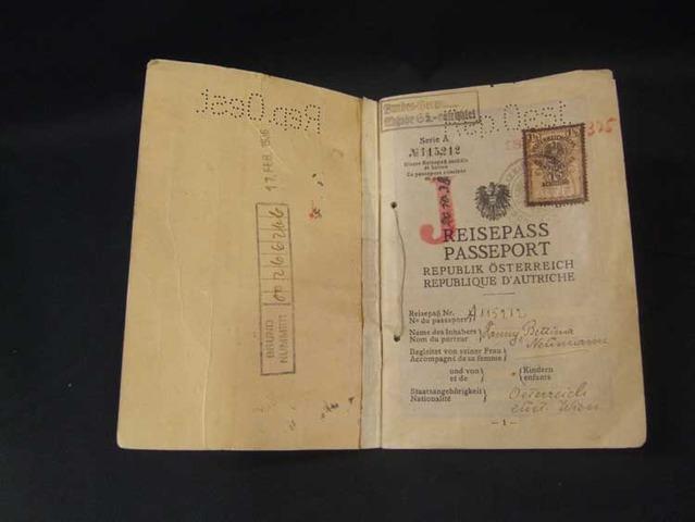 Jewish Passports Stamped With 'J'