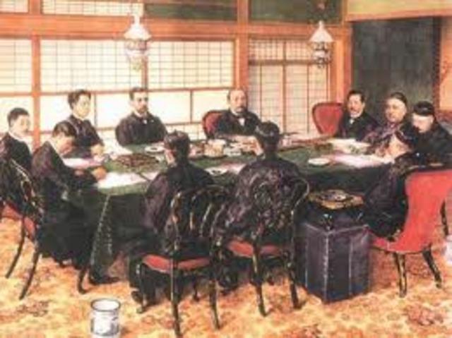The Treaty of Shimonoseki is signed