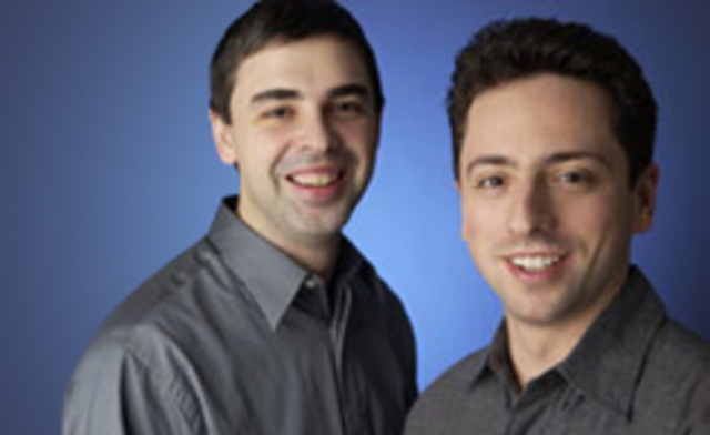 Larry Page and Sergey Brin meet at Stanford.