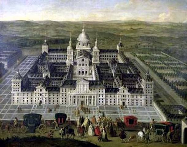 King Philip II moves to Escorial palace