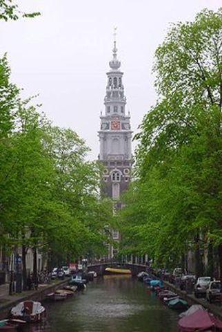 1st stones layed in Zuiderkerk Amsterdam