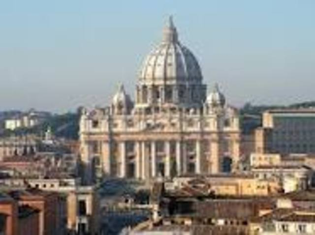 St. Peter's Basilica is consecrated.