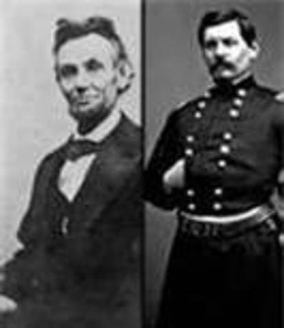 President Lincoln appoints George B. McClellan as Commander.