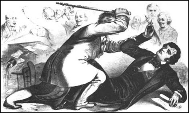 Charles Sumner beaten