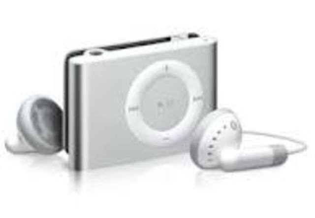 iPod shuffle with built-in clip.