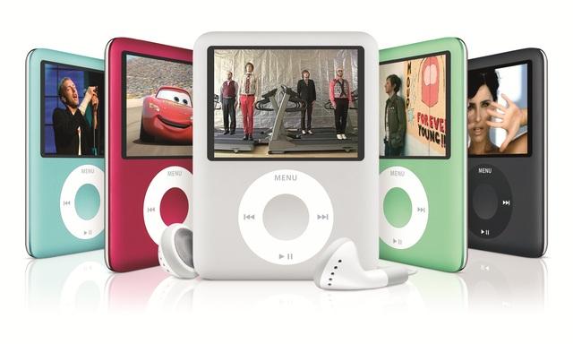 iPod nano  in five colors