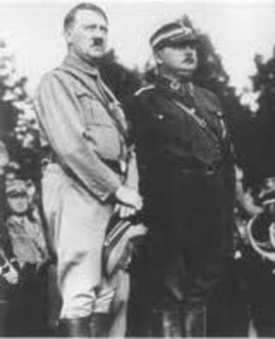 "Hitler gains majority of ""democratic"" elections."