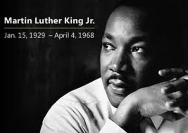 the birthday of Martin Luther King Jr.
