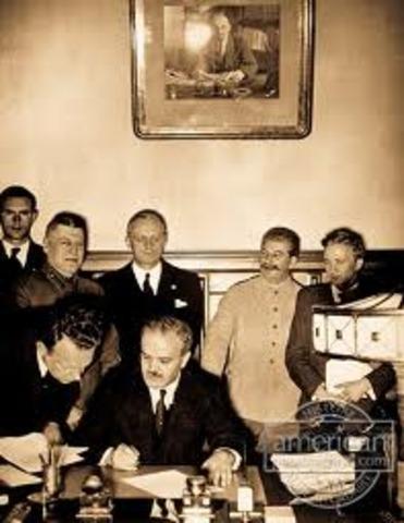 Soviet/German nonaggression act