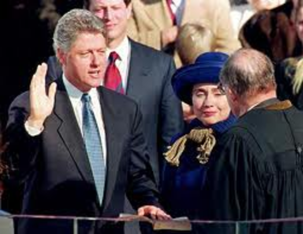 Clinton was sworn in as President of the United states.
