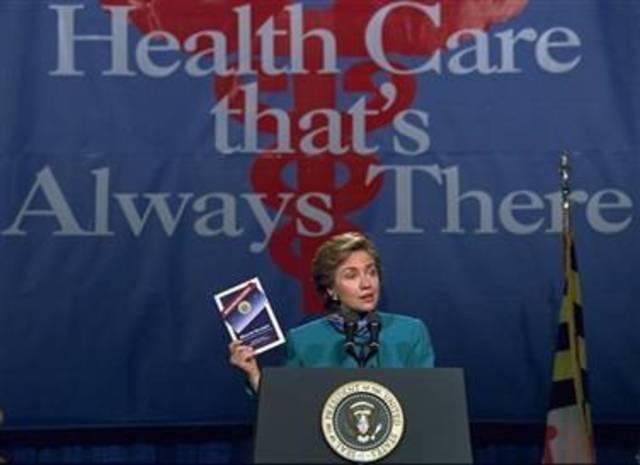Clinton's universal health care initiative fails in Congress.