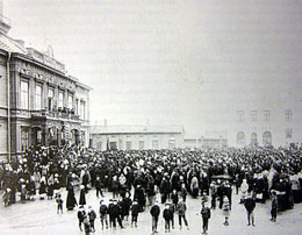 Arrested twice during Russian Revolution of 1905
