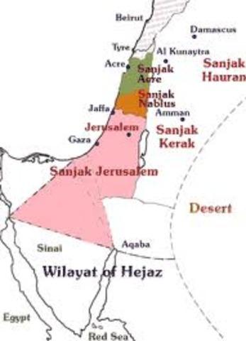 Emigrates to Ottoman Palestine