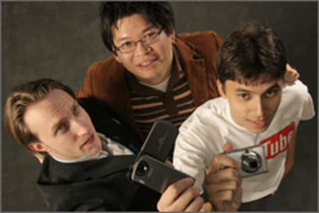 the three creators of YouTube (Steve Chen, Chad Hurley, Jawed Karim) shot a video but there was no easy way to share it online