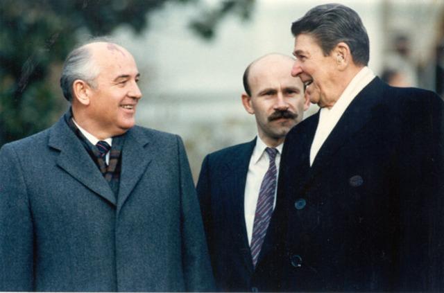 Mikhail Gorbachev ascends to power in Soviet Union