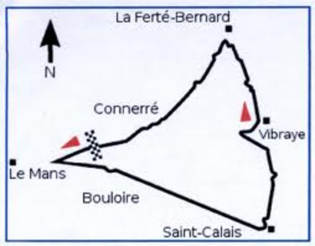 Route of French Grand Prix