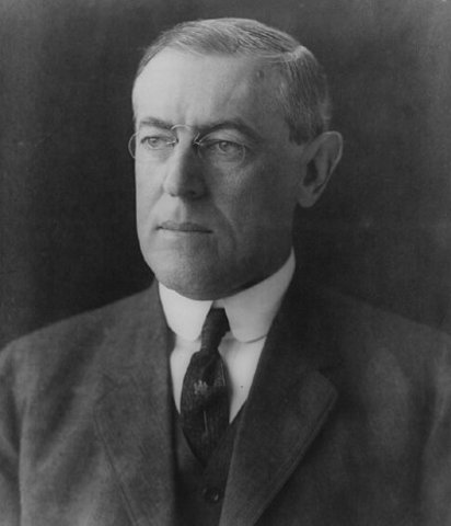 woodrow Wilson elected President