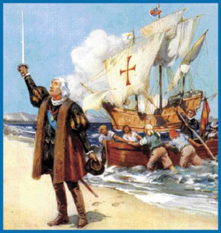 Cristófor Colom arriba a Amèrica