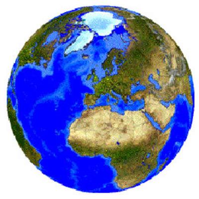 Jordens geografiska utveckling timeline