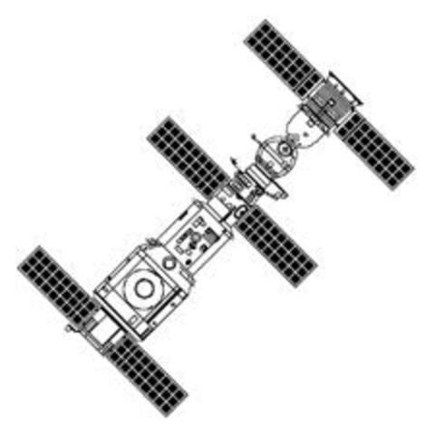 Soviets Launch First Space Station