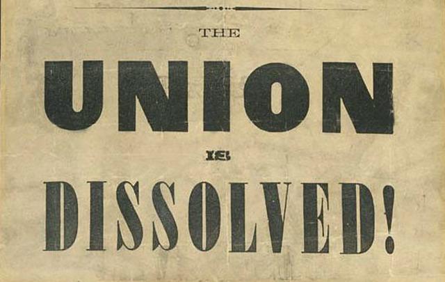 South Carolia Seceds Form The Union