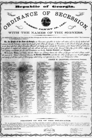 Georgia Seceds From The Union