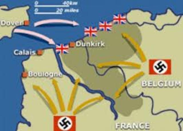 Germans trap allied forces