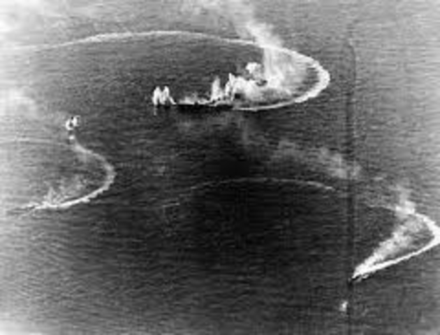 Attack of U.S. destroyers