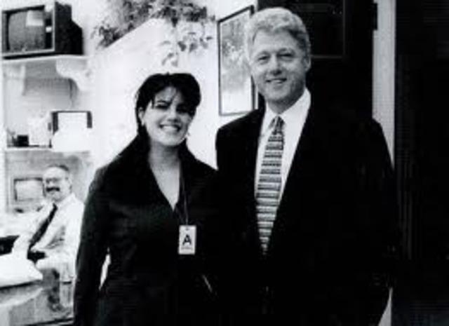 Clinton denies having an affair with Monica Lewinsky.