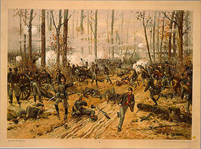 The Battle of Shiloh.