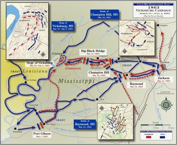 The Vicksburg Campaign.