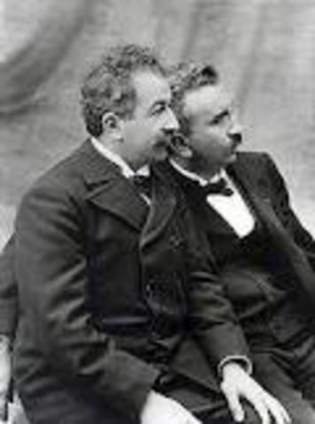 In 1895 The Lumiere brothers presented the first motion picture