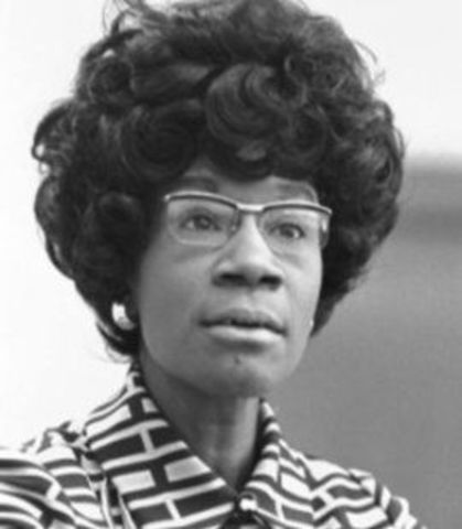 Shirley Chisholm becomes first African American candidate for President